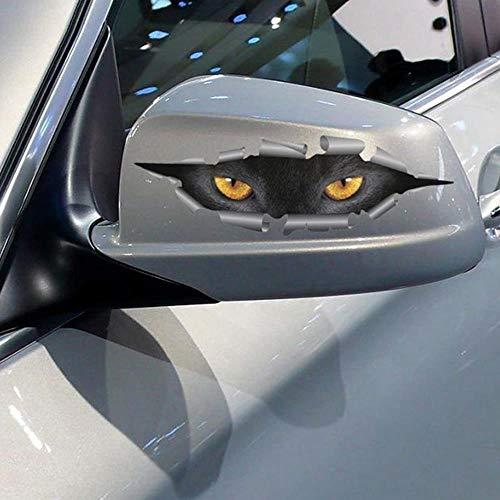 4 STUKS Koop 3D Auto Styling Grappige Kattenogen Gluren Auto Sticker Waterdicht Gluren Monster Auto-accessoires Hele Lichaam Cover voor alle auto's