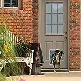 "Ideal Pet Products Designer Series Ruff-Weather Pet Door with Telescoping Frame, Medium, 7.25"""