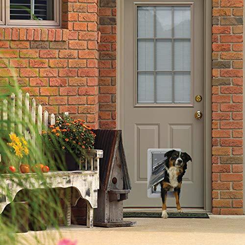 Ideal Pet Products Designer Series - Puerta para Mascotas con Marco telescópico, Color Gris, tamaño Mediano de 18,2 x 33 cm