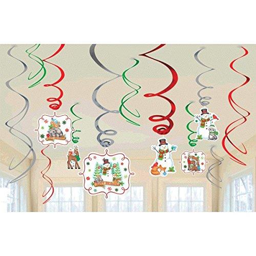 Amscan International 670499 Winter Amis Swirl Foil Décorations