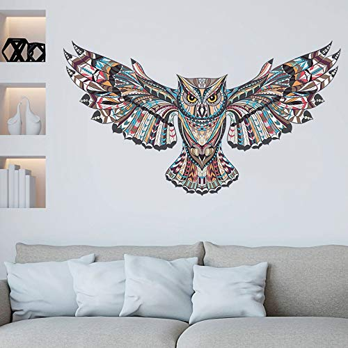 JSJJAET Pegatinas de Pared Extraíbles búho Colorido Kids Nursery Habitaciones Decoración Adhesivos de Pared Flying Birds Animales Vinilos Adhesivos Auto-Adhesivo de la decoración (Color : M01025)