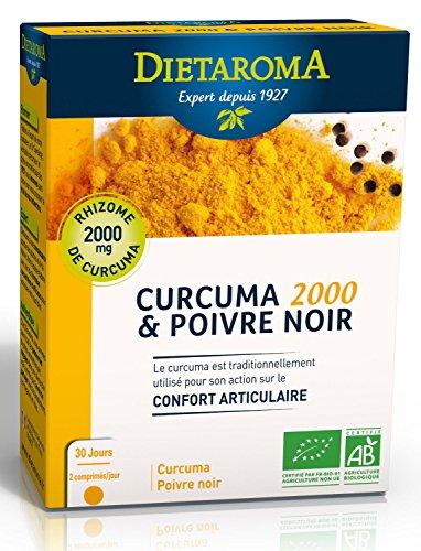 DIETAROMA - Curcuma et Poivre Noir bio - 60 comprimés