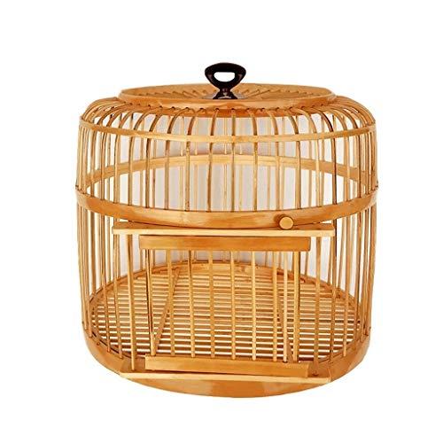 ZYLBDNB Voliera per pappagalli Gabbia per Uccelli a Mano Coperta e da Esterno Ornamentale Gabbia per Uccelli Pet Supplies Diametro 39 cm voliera per Uccelli (Color : Natural)