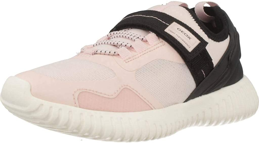 Geox Respira Girls Waviness Slip On Running Shoes Pink 4 Medium (B,M) Big Kid