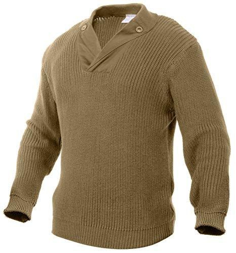 Rothco WWII Vintage Mechanics Sweater, 2XL, Khaki