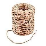 PandaHall Elite Burlywood - Rollo de alambre para manualidades (50 m, 2 mm, hecho a mano, con revestimiento de papel de hierro)