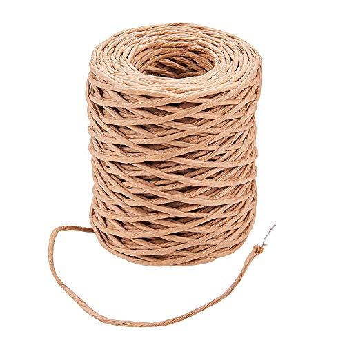 PandaHall Elite - Encuadernación de alambre hecha a mano para hacer manualidades DIF, color marrón coco, Burlywood, 2mm-50m
