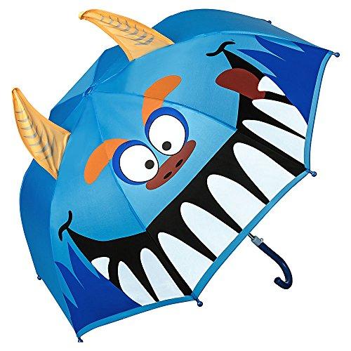 VON LILIENFELD Regenschirm Kinderschirm Monster Junge Mädchen Kids bis ca. 8 Jahre