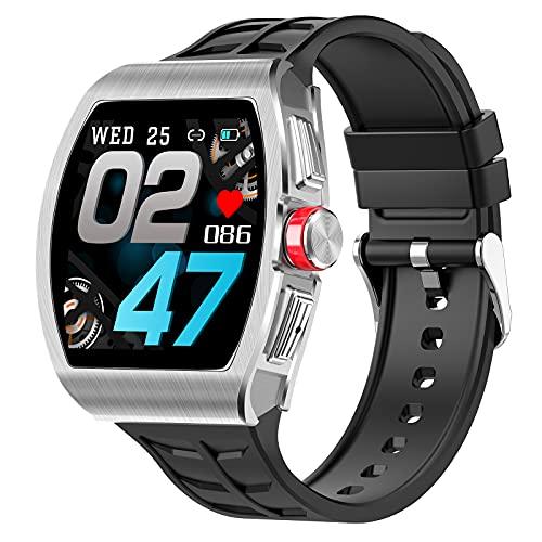 QFSLR Smartwatch Reloj Inteligente Deportivo con Monitor De Frecuencia Cardíaca Llamada Bluetooth Monitor De Presión Arterial Monitoreo De Oxígeno En Sangre Podómetro,Negro