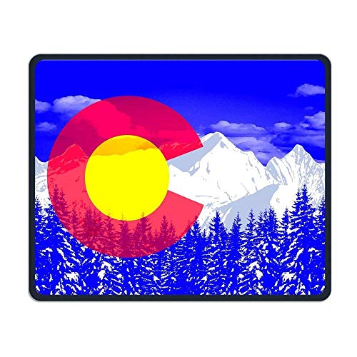 Colorado Vlag Pop Art Comfortabele Rechthoek Rubber Base Mousepad Gaming Mouse Pad