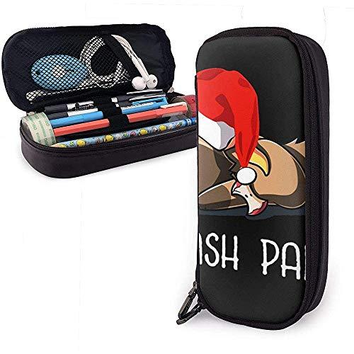Papelera Panda Navidad PU Cuero Bolsa Bolsas de almacenamiento Portátil Estudiante Lápiz Oficina Papelería Bolsa Cremallera Carteras Maquillaje