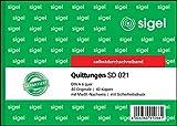 SIGEL SD021 Quittungsblock A6 quer, 2x40 Blatt, selbstdurchschreibend, 1 Stück
