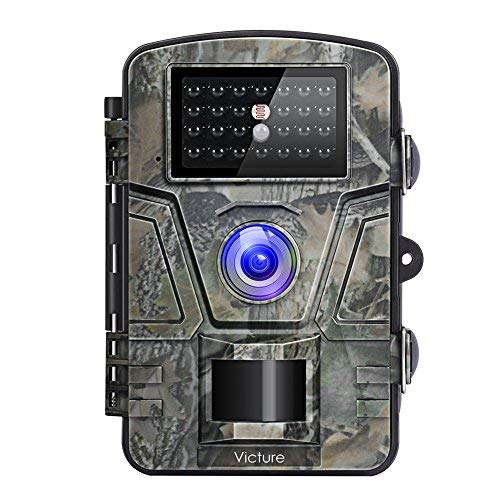 Victure HC200 - Cámara de Caza Vigilancia 12MP 1080P IP66 Impermeable 24 IR Invisible 1 PIR Sensor de Movimiento 2.4 '' LCD Visión Nocturna Hasta 20m Accesorios Múltiples 90 ° Angular