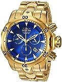 Invicta Men's Venom Quartz Watch with Stainless Steel Strap, Gold, 26 (Model: 29643)