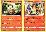 Pokemon Rebel Clash Evolution Set - Arcanine 028/192 - Sword & Shield - Rare 2 Card Lot