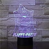 Solo 1 pieza lámpara 3d lámpara de mesa acrílico decoración creativa dormitorio luz de noche para dormir