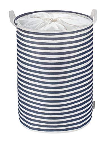WELLENBORG® Wäschekorb mit Sichtschutz - [36x48cm | 50 Liter] - Wäschesammler robust & stabil - Faltbarer Wäschekorb mit wasserabweisender Innenseite - schöner & moderner Wäschebehälter