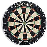 Tiendas LGP Longfield - Diana clásica de Pelo Sisal Marca Longfield, 45 cm. diámetro, 4 cm de Grosor Peso 5 kg. Modelo Oficial Competiciones + 6 Dardos de Regalo