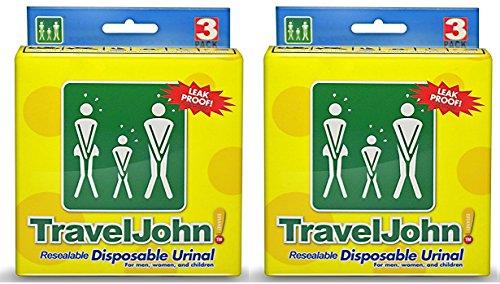 TravelJohn tragbar Unisex Einweg Urinal