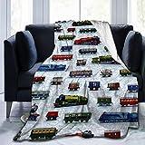 YCKNJYSG Train Cars Fleece Throw Blanket Cozy Couch Bed Sofa Blanket, 50'' X 60''