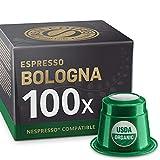 100 Organic Nespresso Compatible Pods - Espresso Bologna