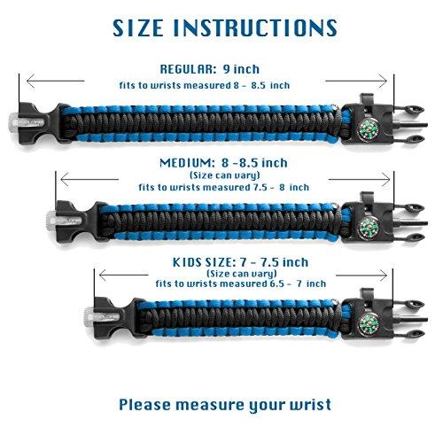 X-Plore Gear Emergency Paracord Bracelet