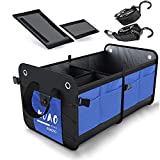 comfitis OMFITIS Car Trunk Organizer Collapsible Waterproof Grocery Cargo Storage Container for SUV Auto Car Trunk Vehicle Car Basket (Blue)