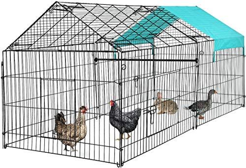 BMS Chicken Cage Pens Crate Chicken Coop Rabbit Run Cage Enclosure Exercise Pen Pet Playpen