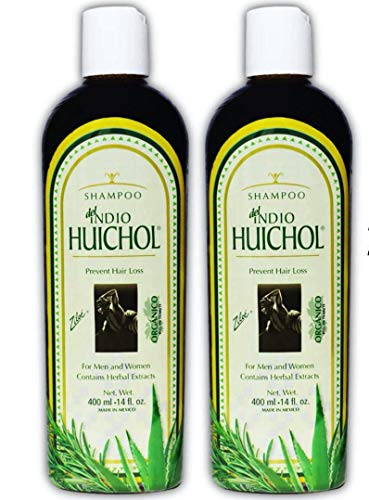 Shampoo del Indio Huichol | Hair Loss and Dandruff Treatment Shampoo for Strengthening Abundant Hair Growth and the Prevention of Dandruff; 14 Fl Oz | 2 PACK