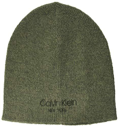 Calvin Klein Beanie NO Fold Gorro/Sombrero, Verde Oliva Oscuro, Taille Unique para...