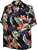 Pacific Legend Tropical Shirts Bird of Paradise 3470-Black XL