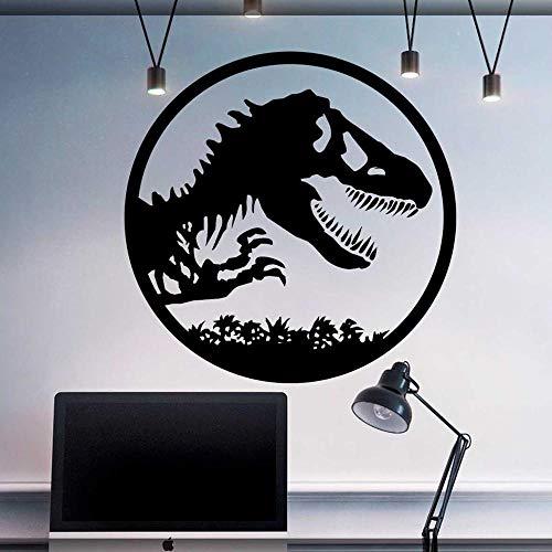 Abkbcw Calcomanías de Pared de Dinosaurio Pegatinas de Mundo de Dinosaurios Tyrannosaurus calcomanías de PVC para habitación de niños decoración de niño 85x85 cm