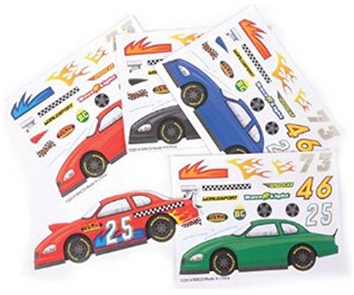 24 Make a Race Car Stickers (Race Car Stickers for Toddlers Goodie Bags, Party Favors for Kids, Toddler Stickers for Travel)
