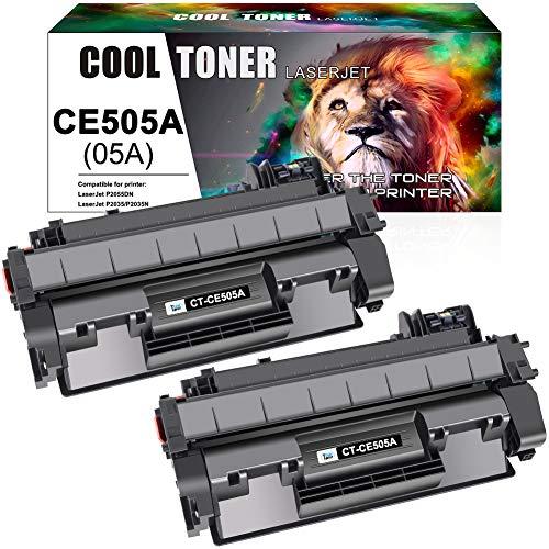 2PK CE505A Toner Cartridge For HP CE505A LaserJet P2055d P2050 P2035 M425 CF280A
