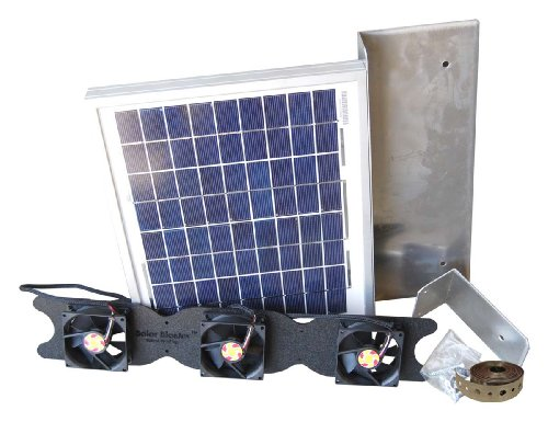 Solar Attic Fan for Ridge Vents - Solar Roof Vent Solution - Solar RidgeBlaster