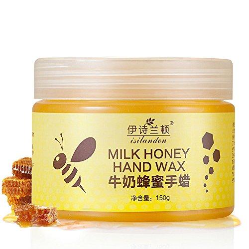PanDaDa Milk Honey Hand Wax Lait Miel Main Masque Cire de Paraffine pour Mains Hydratant Blanchissant Crème Soins de Peau