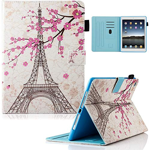 iPad 9.7 inch 2017 Case, iPad Air Case, iPad Air 2 Case, Dteck PU Leather Folio Smart Cover Stand Wallet Case with Auto Sleep Wake for iPad 2017 iPad 9.7 Inch,iPad Air 1, iPad Air 2, Eiffel Tower