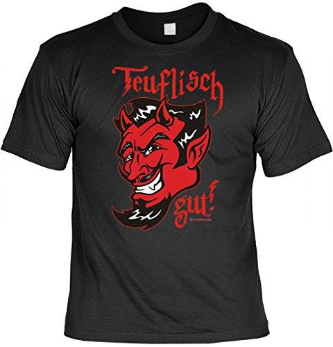 T-Shirt als tolles Geschenk ! Wunsch Namen Shirt - Teufel - richtig für heiße Dämonen !, Größe:XL