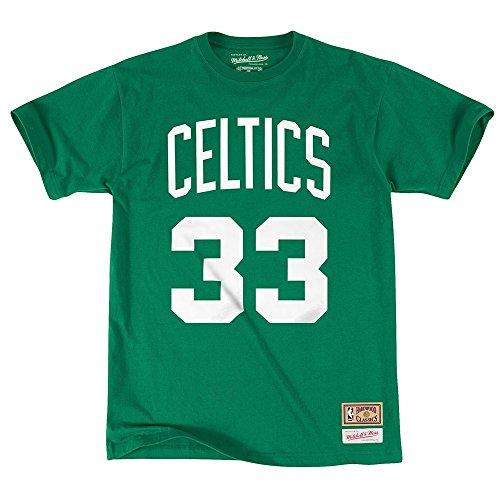 Mitchell & Ness, canottiera NBA Boston Celtics, Larry Bird 33, nome e numero, colore verde