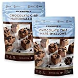 Hammonds Candies Chocolate Chip Gourmet Marshmallows- 2 Bags. Chocolate Marshmallow Candy Great for Snaking, S'mores and Hot Chocolate. Handcrafted in Small Batches- Proudly Made in America.