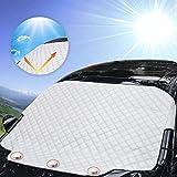 Protezione parabrezza antighiaccio con, AODOOR parabrezza Neve Copertura antighiaccio auto parabrezza parasole auto adatto per la maggior parte dei veicoli, 183 x 116cm