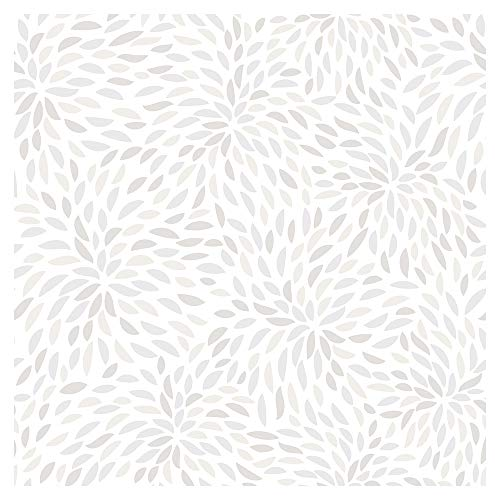 murando Tapete selbstklebend 10m Wandtattoo dekorative Möbelfolie Dekorfolie Fotofolie Panel Wandaufkleber Wandposter Wandsticker - weiß grau geometrisch f-C-0365-j-a