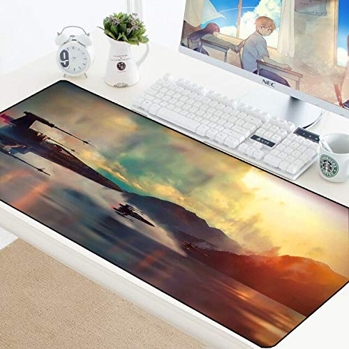 TonyJameJPStore Star Wars 90x40CM Large Gaming Keyboard Mouse Pad Computer Gamer Tablet Desk Mousepad with Edge Locking XL Office Play Mice Mats - StarWars-059 - 900x400 mm