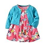 Lvguang Baby Mädchen Sommer Party Spielanzug Strampler Bodysuit + Langarm Lässig Jacke Outfit Set (Stil#10, Asia 80)