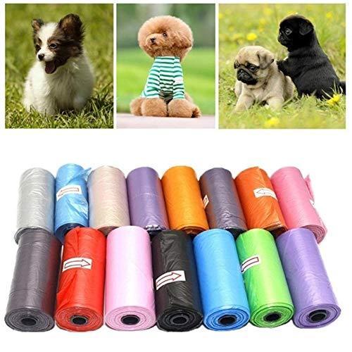 N\A Kackbeutel für Hunde, Außenreinigungs Tasche zufällige Farbe Hund Katze Poop Tasche Abbaubare Pet Müllsack Geeignet for alle Tiere 1rolls 15pcs (Farbe : 1 roll)