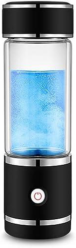 Bouteille d'eau alcaline Ioniseur d'eau Générateur d'eau hydrogène Portable Bouteille de Voyage Séparer H2 et O2, Noir