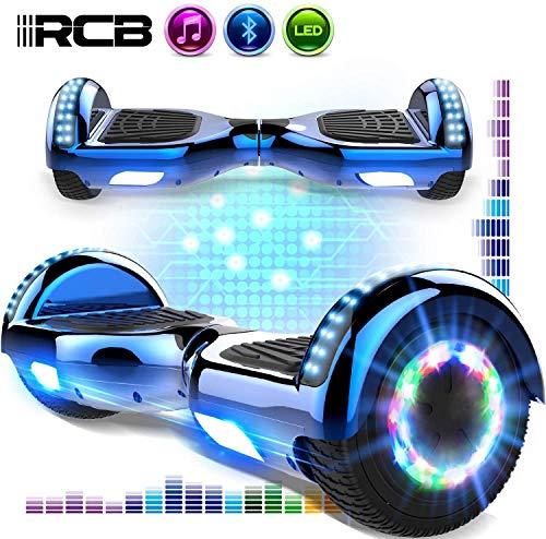 mächtig der welt 6,5 Zoll RCB Hoverboard Elektroroller für Kinder und Jugendliche, Segway mit Bluetooth-Musik, LED…