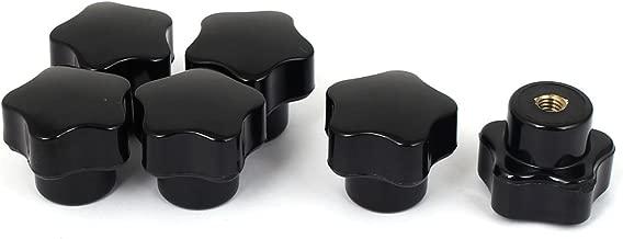 Sourcingmap M5 x 30 mm macho rosca moleteada abrazadera perillas agarre pulgar tornillo en tipo 12 piezas