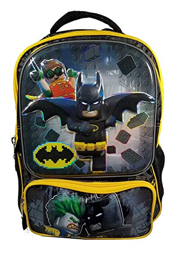 Lego Batman Backpack 3D Molded - 16' Officially Licensed Lego Backpack