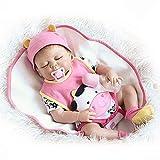 TONGTONG Süße Puppe Spielzeug Weiche Gummipuppe Lebensechte Reborn Babypuppe 57 cm Neugeborene...